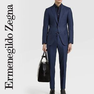 Ermenegildo Zegna Trofeo 600 Navy Striped Suit 56R